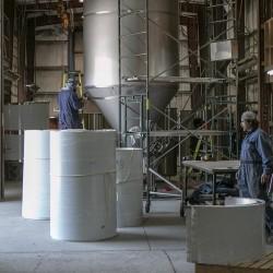 Distillery tanks being manufactured in Summerland